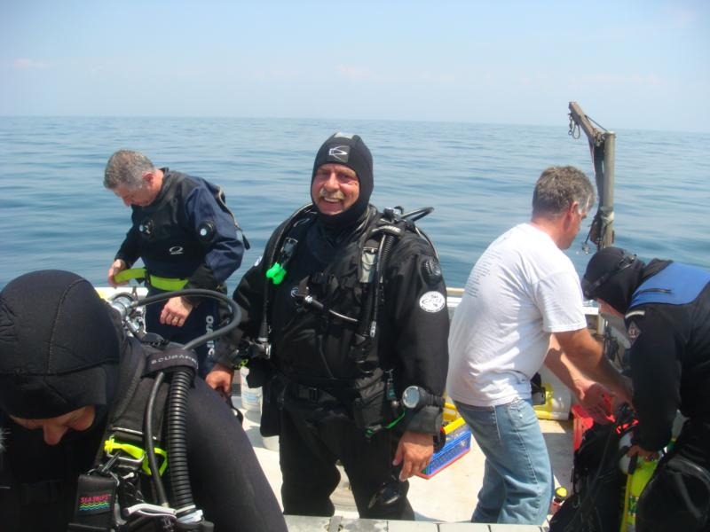 Suiting up for the Bald Eagle Wreck