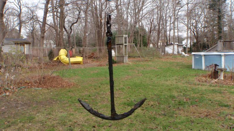 Old kedge style anchor