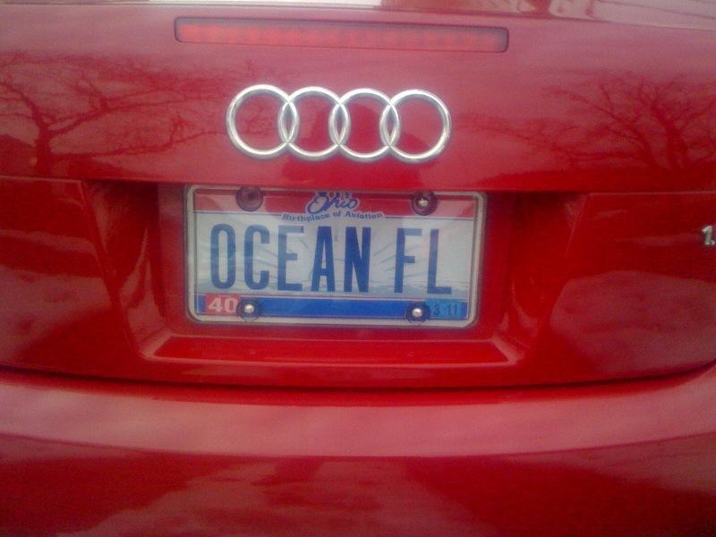 Oceanfloor's License Plate