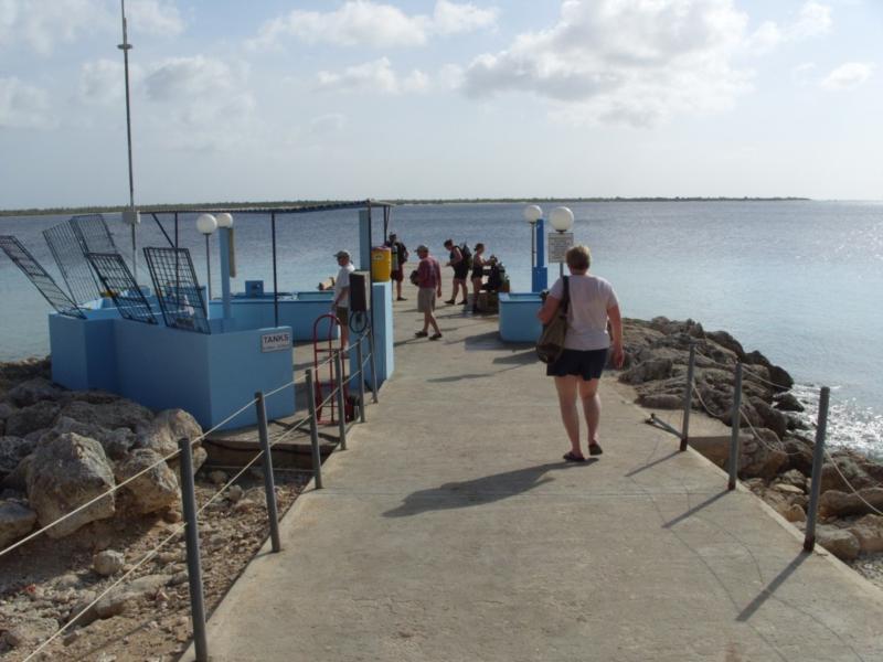 Bonaire Dive & Adventure diving entrance site