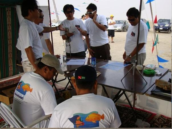 Registration Area - Project Aware in Halfmoon Beac, Dhahran,KSA
