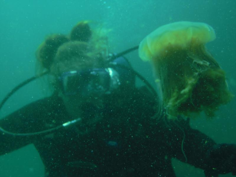 Me and jellyfish in BC