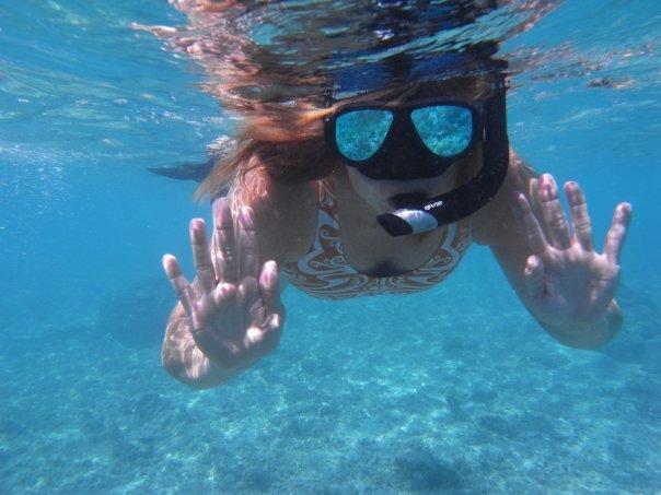 Lovely mermaid, lagoon snorkel