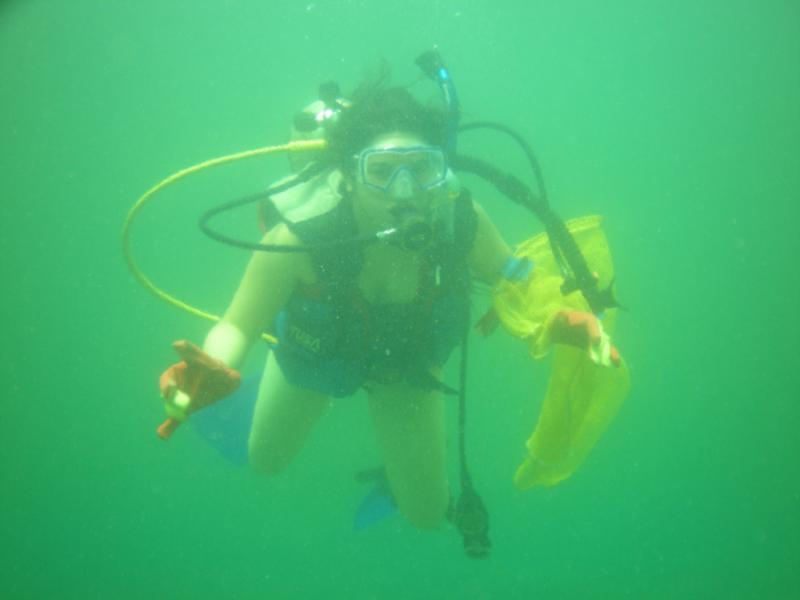 Diving with my daughter