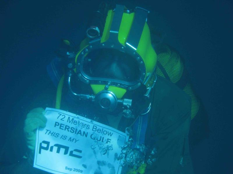 PMC, 72 Meters below Persian Gulf!