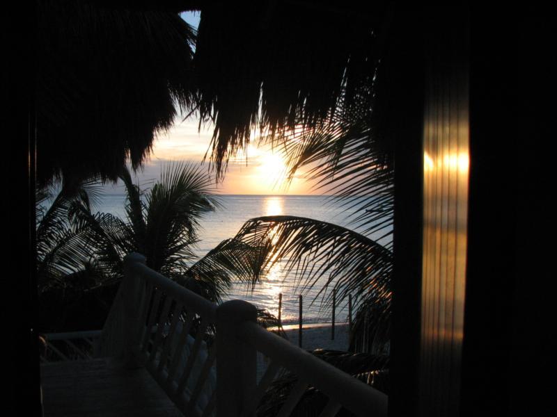 out my door in Cozumel