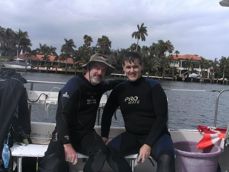 Diving with ADC affliate at Pompano Beach, Florida