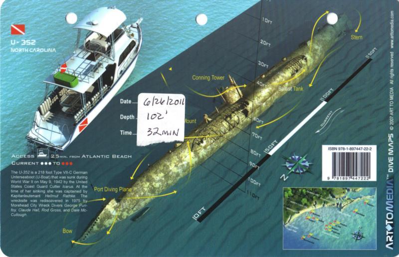 June 26, 2011 U-352 Dive