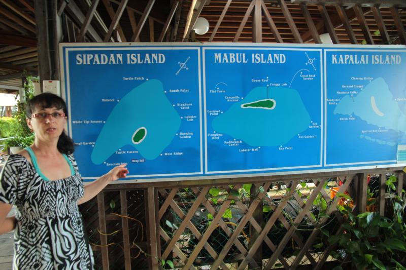 Diving sites Sipadan Island