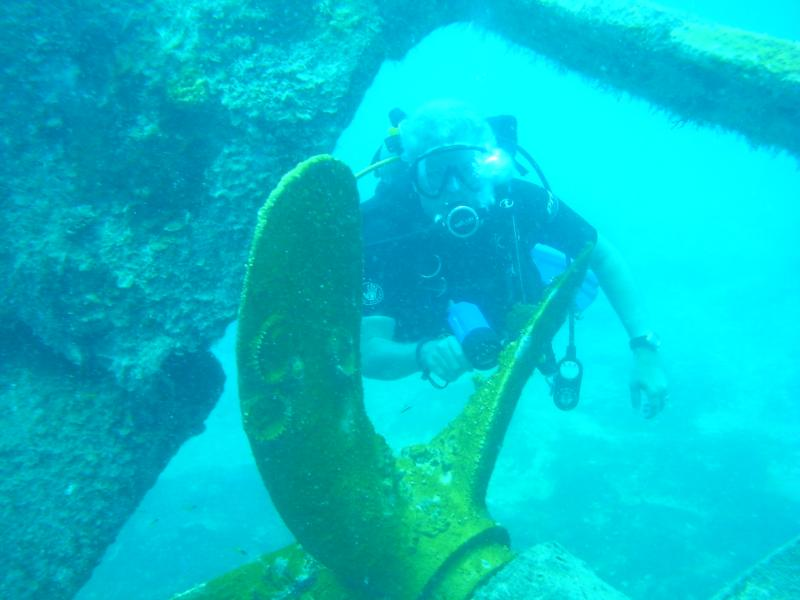 """That's me on the """"Triple Wrecks"""" dive in the Bahamas"""