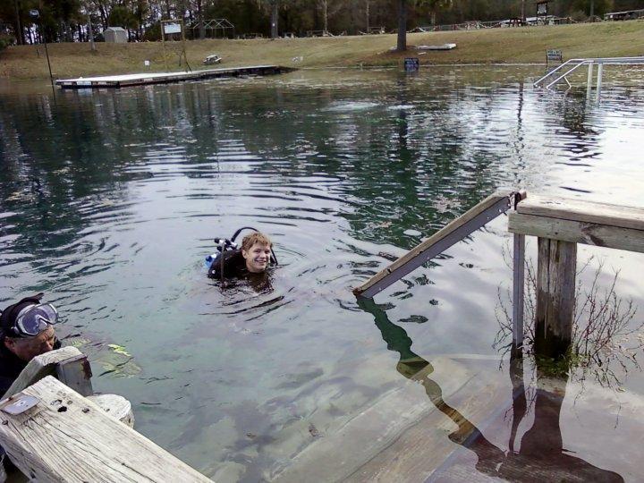 Ryan's always happiest when he's wet :-)