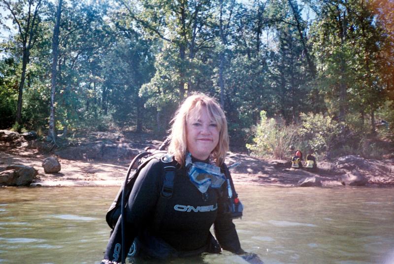 """Bambi"" diver in group at Lake Murray"