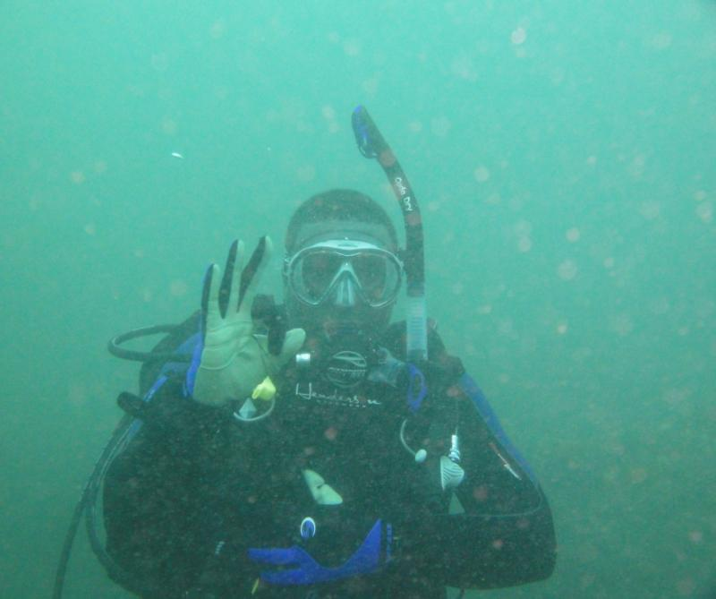 Me during a wreck-dive in South Africa