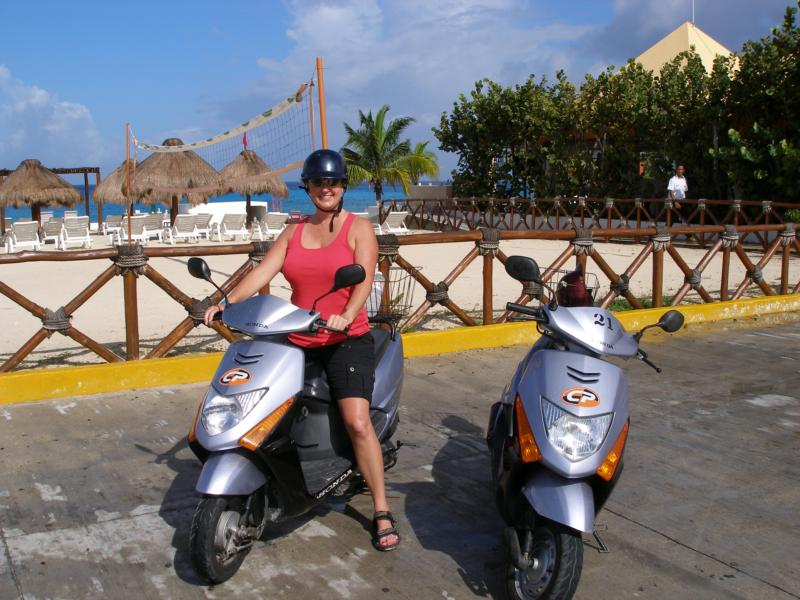 Scootering around Cozumel