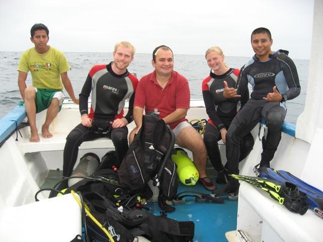 Open water course in Ayangue