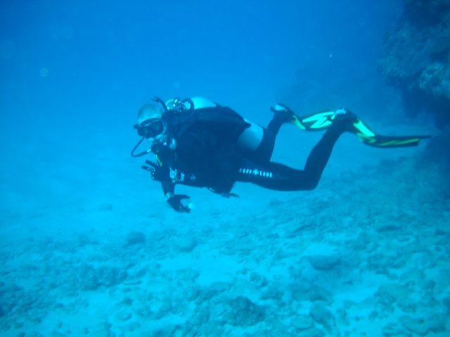 Me cruising along at Channel Crevices Okinawa