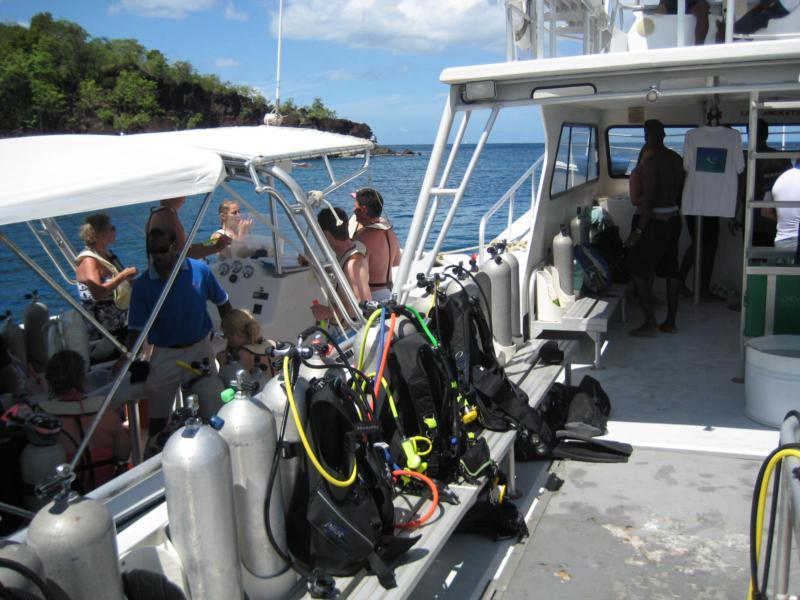 Sandals 46' dive boat