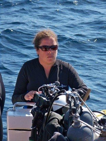 I am a serious dive master, apparently... I do smile, really...