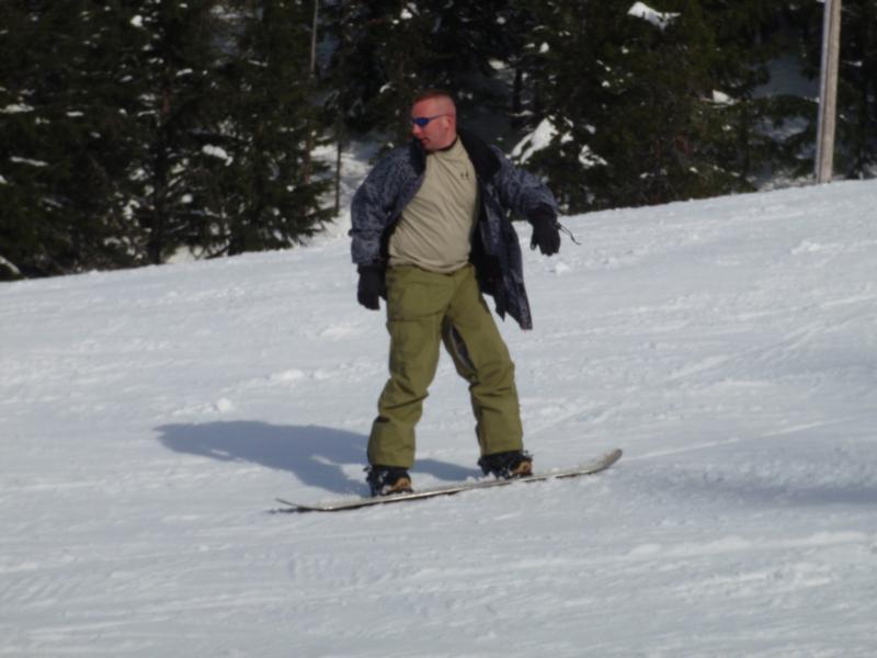 Snowboarding MT hood