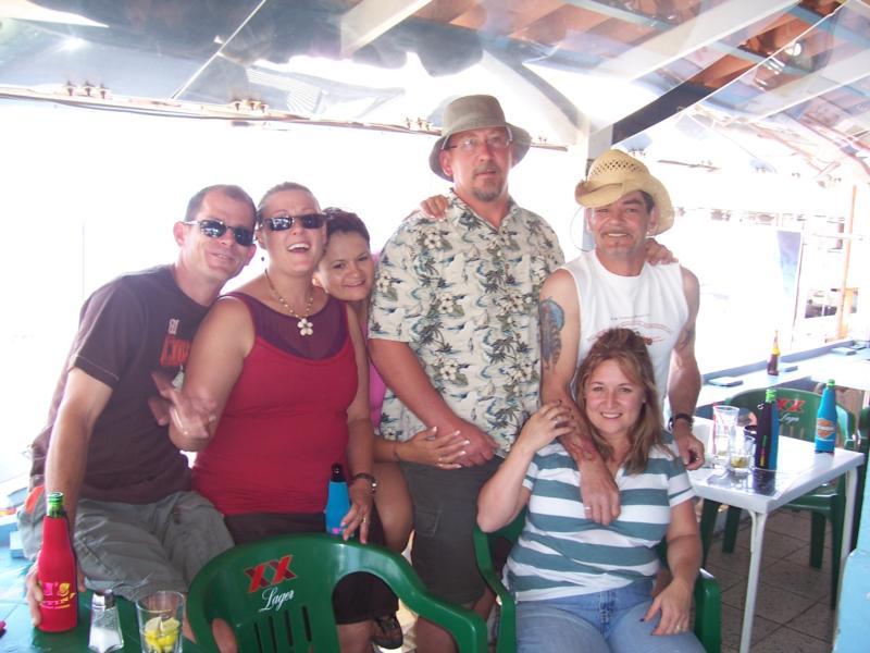 The gang at the Shark Bite.