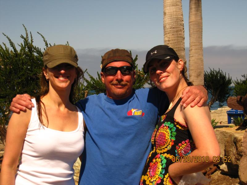 Diving Catalina...From the left it's Nicki, Frank and Me