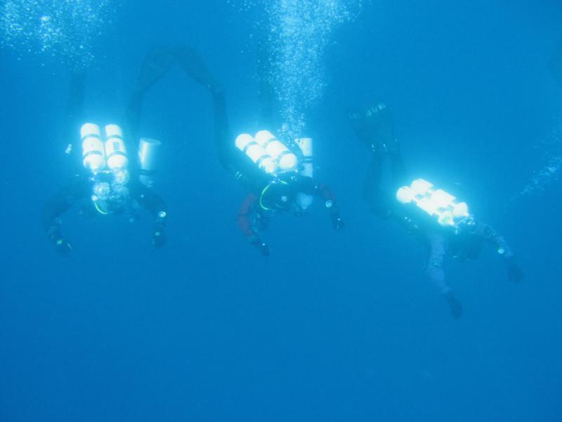 Deco after wreck VIS dive in Croatia