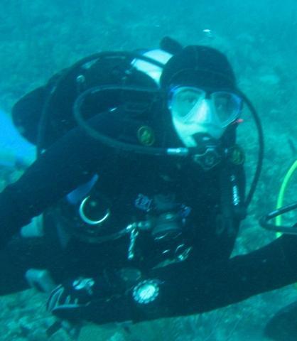 Belinda in some ocean in FL