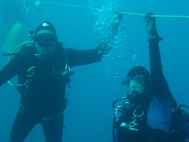 me and dive buddy hanging around