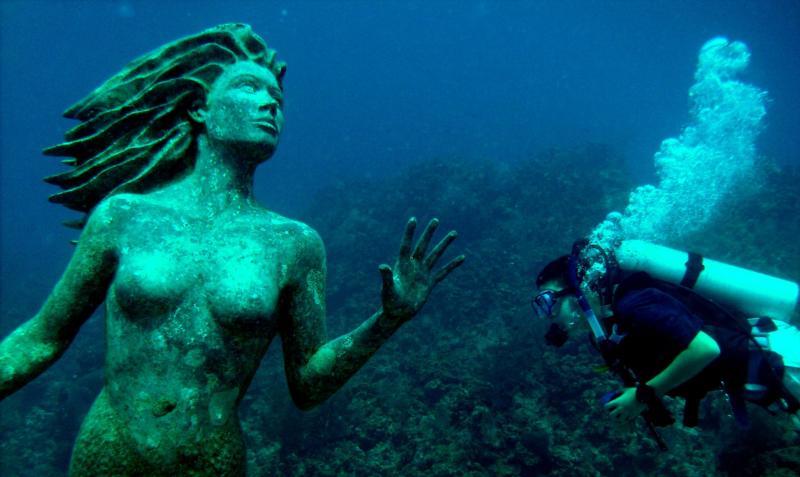 Mermaid at Sunset House, Grand Cayman