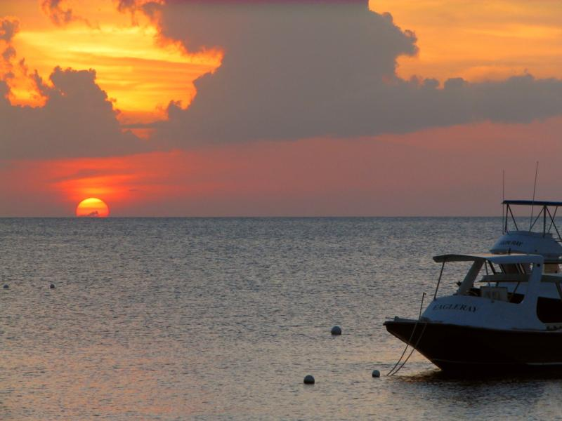 View from My Bar at Sunset House - Grand Cayman