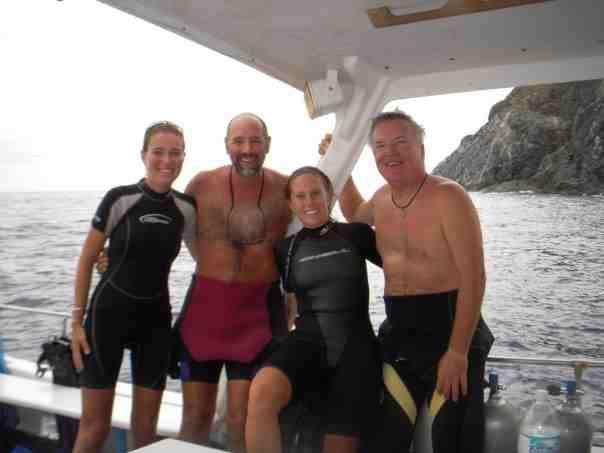 Diving French Cap with Haley and our captains Bill and Sam
