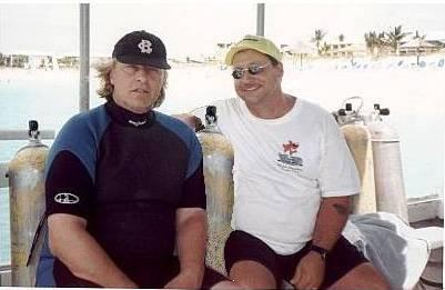 Movie star Rutger Haurer and I diving in the Turks and Cacios Islands