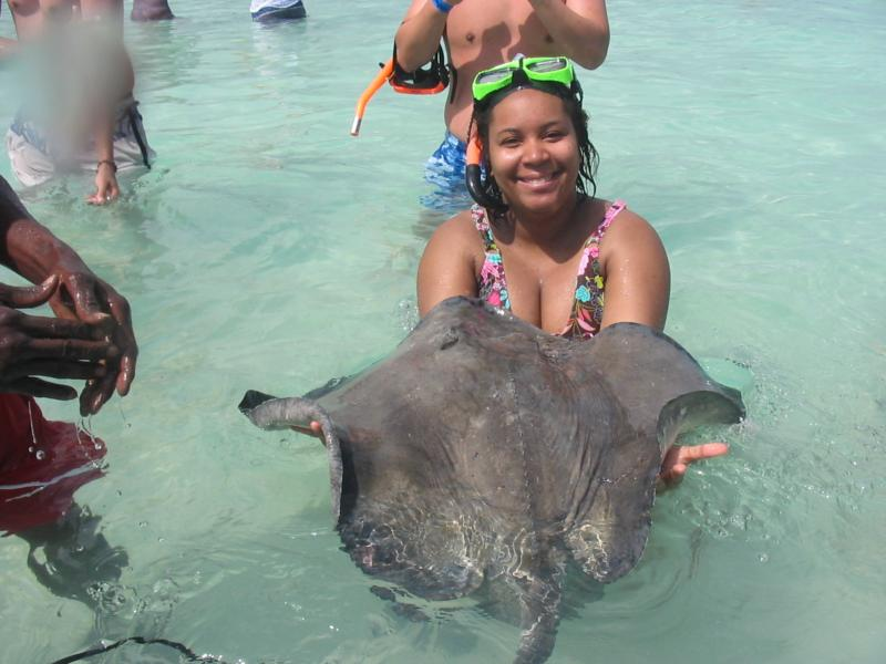 My wife and a Southern Stingray