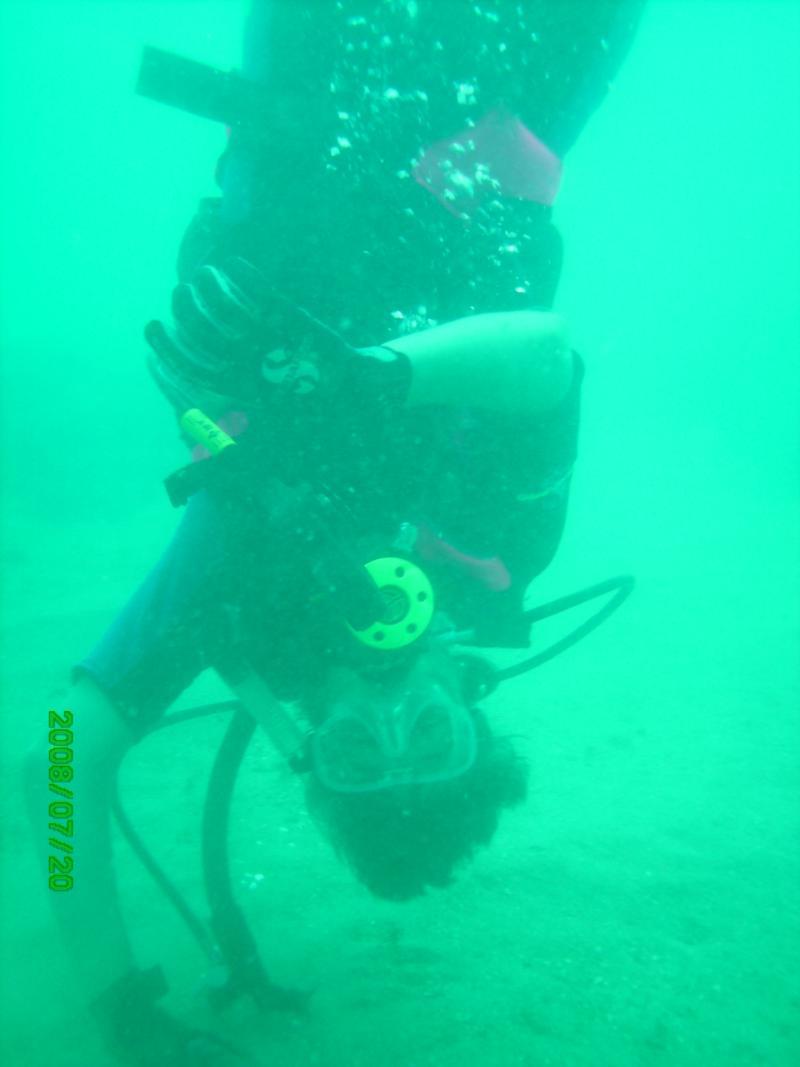 My son always has fun diving