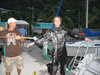 Cleaning a drysuit