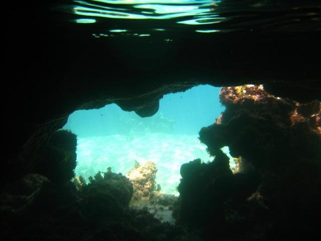Underwater cave at the baths on Virgin Gorda