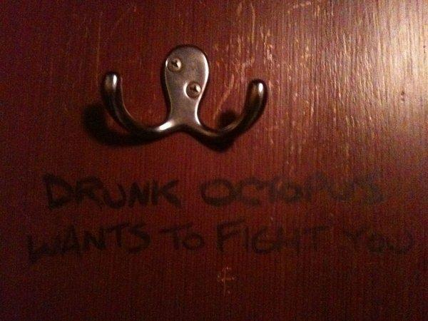Drunken Octopus wants to fight!