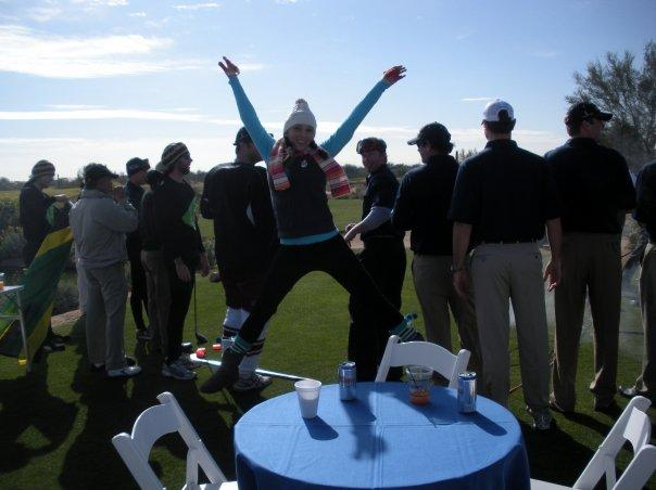 Golf tournament - being silly