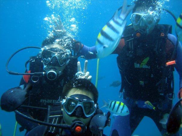 Scuba diving rocks!