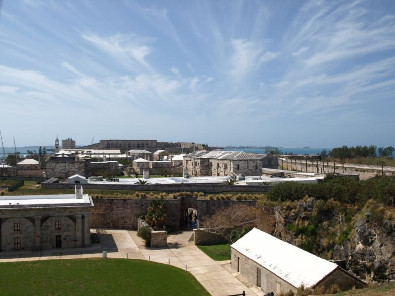 Royal Navy Dockyard from the Commissioner's House - Bermuda 2010