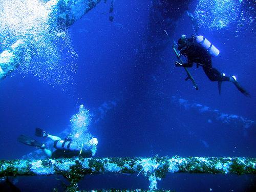 Diving Texas Oil Rigs
