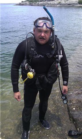 Diving Lake Amistad in Del Rio, Texas