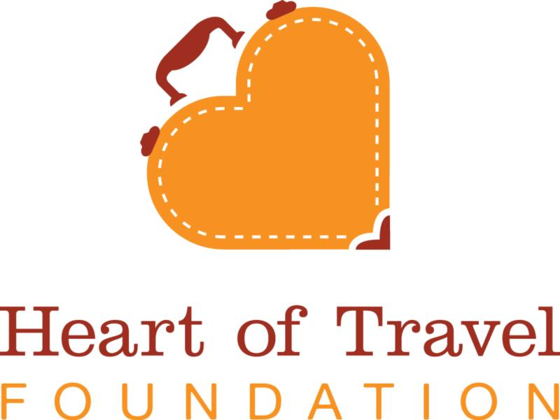 Logo for my foundation Heart of Travel