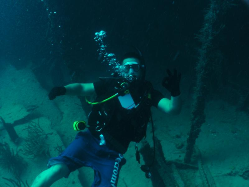 me 75' deep on a wreck off Lauderdale