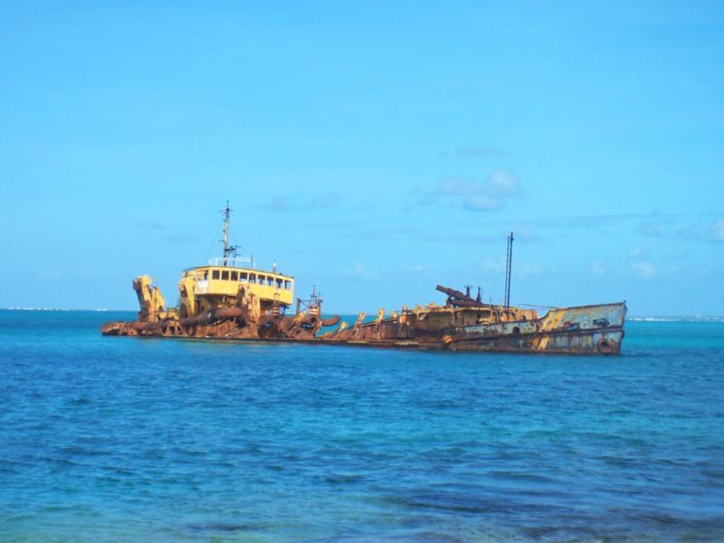 shallow wreck, St. Martin