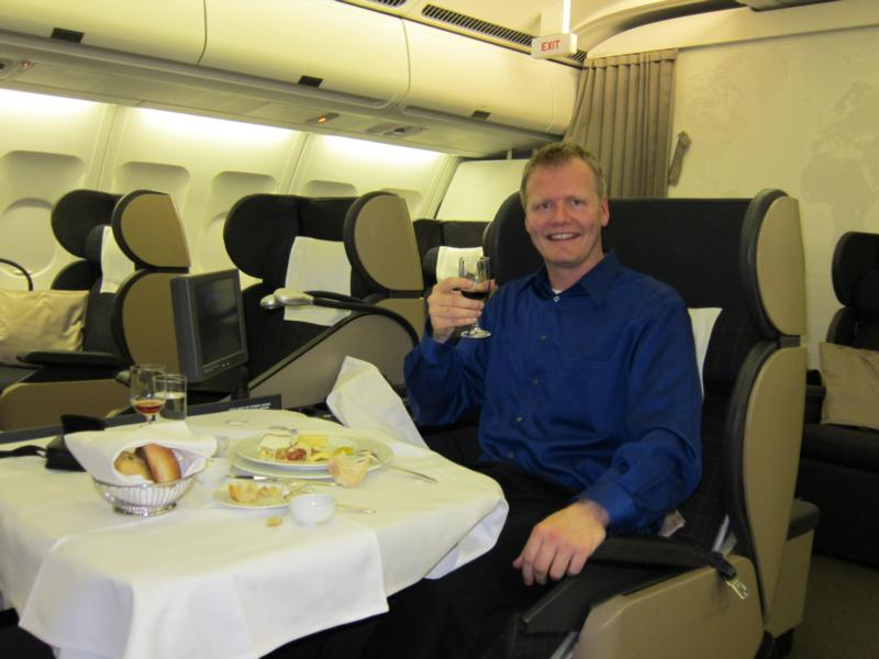 Flying 1st class, love free tickets...