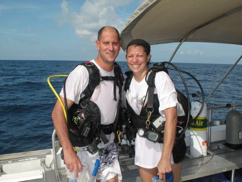 After our first dive to the Sheridan