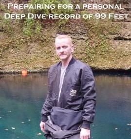 Blue Grotto, Fl. Prepairing for a personal best deep dive record of 99'