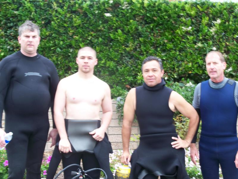 Dive buddies - James, Javy, Mike, Curtis