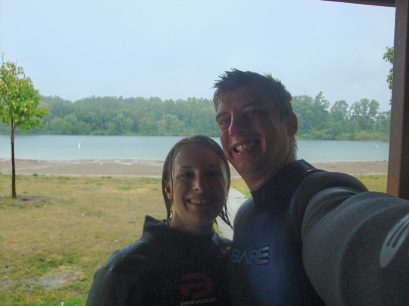 My wife and I at our check out dive